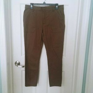 J. Crew Size:30 (12/14) Brown Cropped Ankle Pants